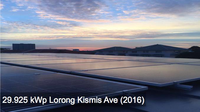 Residential: 29.925kWp Lorong Kismis Ave (2016)