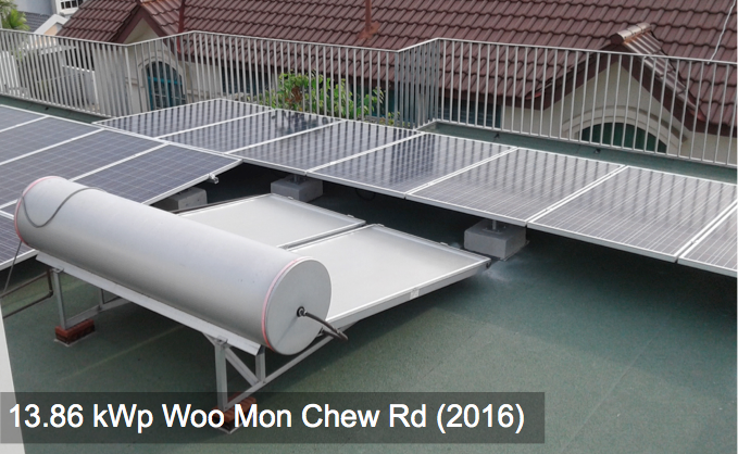 Residential: 13.86kWp Woo Mon Chew Rd (2016)