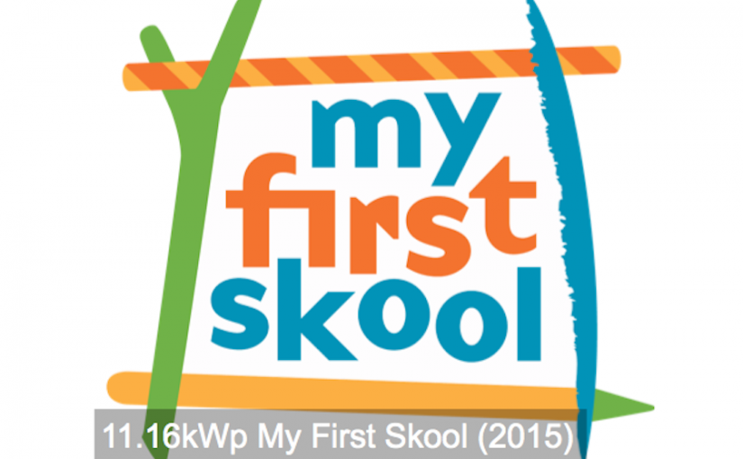 Commercial: 11.16kWp My First Skool (2015)