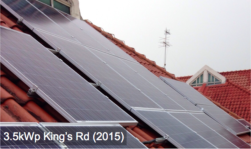 Residential: 3.5kWp King's Rd (2015)